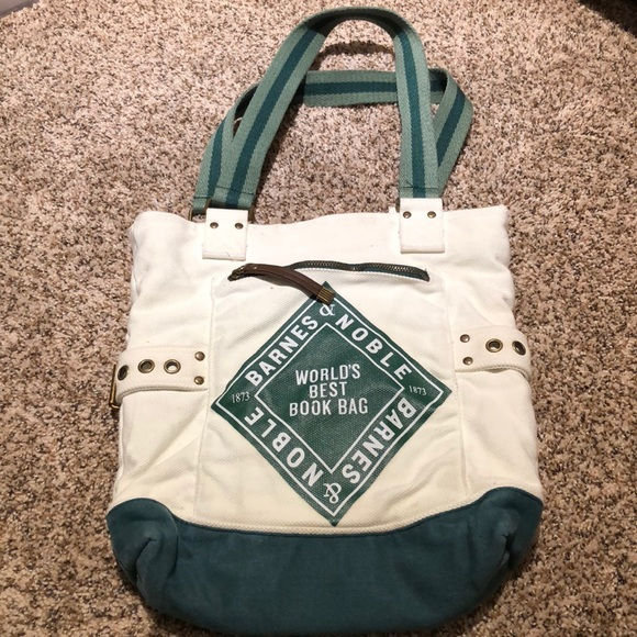 Vintage Weathered Barnes & Noble Book Bag